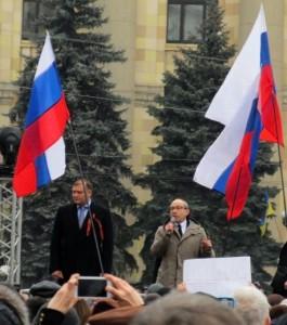 Кернес під російськими прапорами у Харкові весною 2014 року